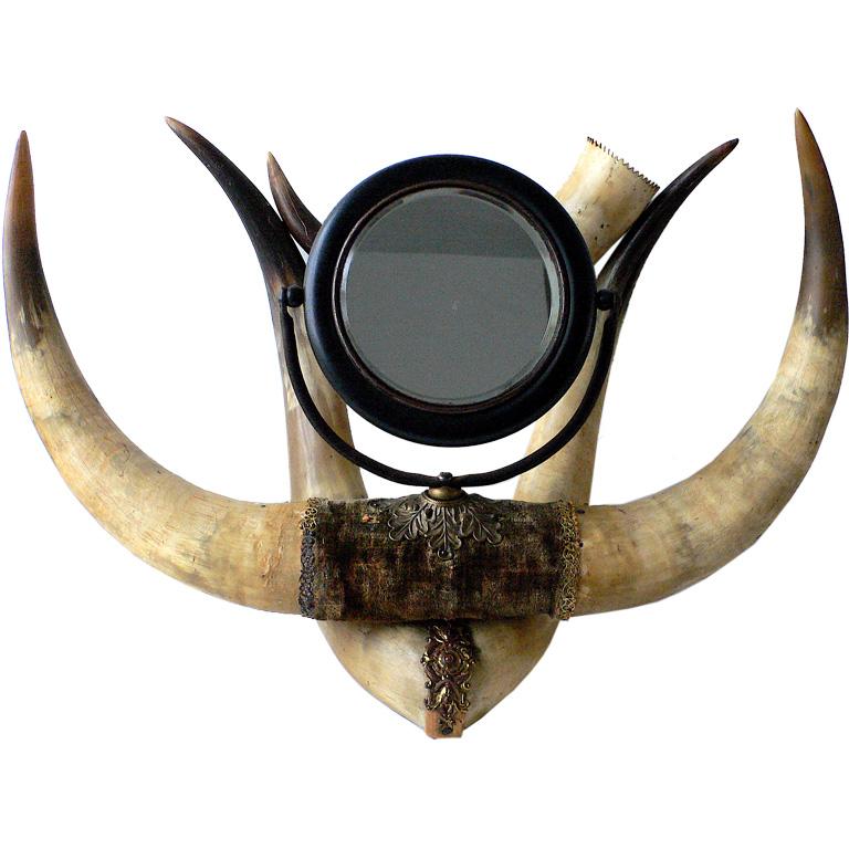 antiquehornshavingmirror