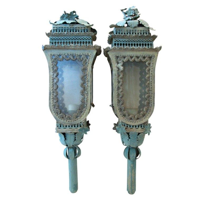 tole Venetian carriage lanterns
