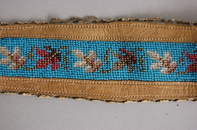 tan beaded garters c. 1860UK auction