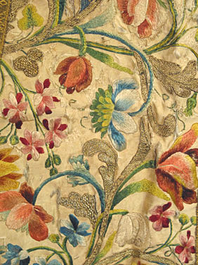 18th century silk embroiderey augusta