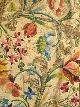 18th century silk embroiderey augusta