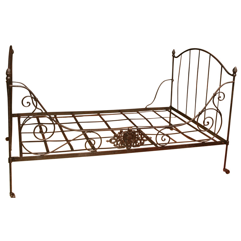 Bed French folding daybed 19th  1stdibs