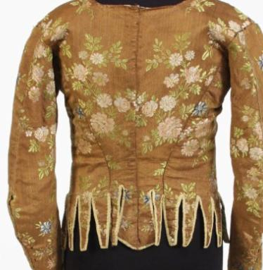 bonhams early 18th silk bodice