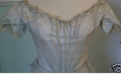 dress 1830 blue tulle