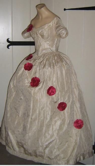 antique silk ballgown