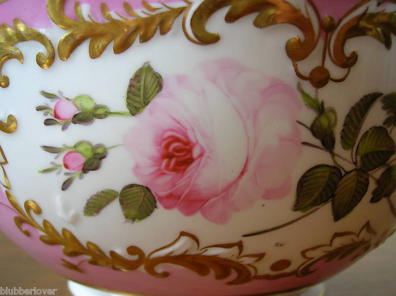 Porcelain coalport antiue closeup 1830 bowl