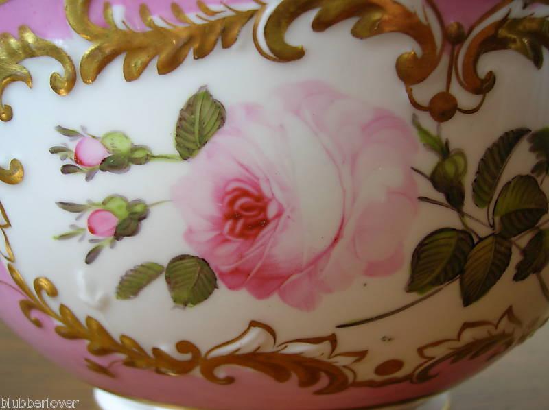 Porcelain coalport antiue closeup 1830 bowl
