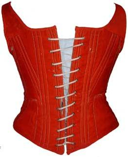 red corset 1860