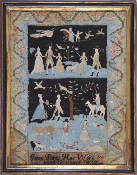 Sampler c. 1802 Huber