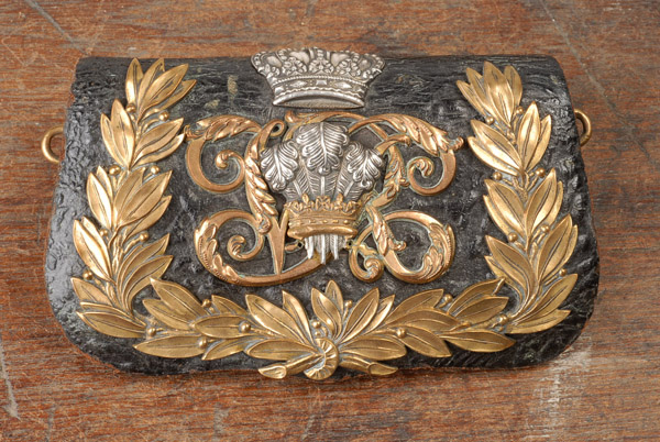 Victorian 10th Royal Hussars (Prince of Wales's Own) officer's cross belt and pouch
