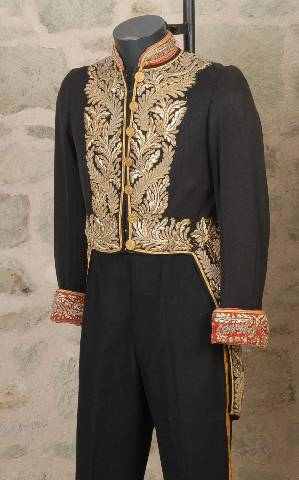 Victorian or early 20th century state official full dress tail coat hogspear