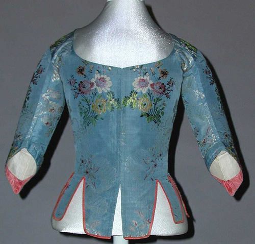 18th c bodice French silk MET wrk 383