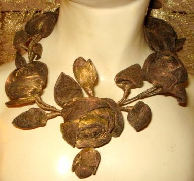 19th century gold metallic ribbonart