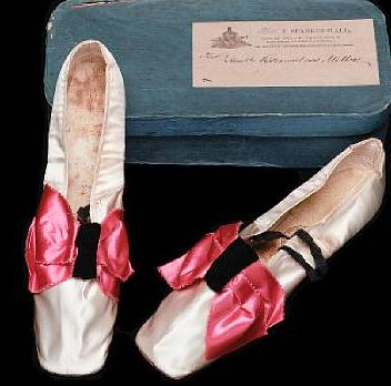 bonham c 1820 A pair of lady's ivory satin dance shoes