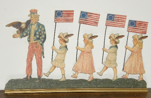 Cindy Fenton Uncle Sam and children die cut