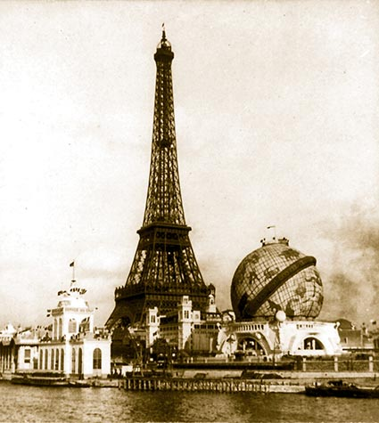 Eiffel tower built in 1887 Paris World Fair