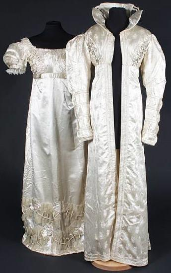 redingoat early 19th fiqured silk bonhams