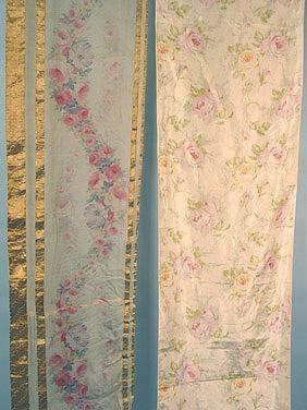 Rose printed silk c 1910 AA
