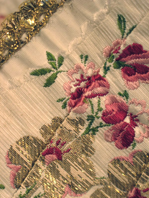 Silk Brocade & Gold Bodice, 2 Late 18th C AA