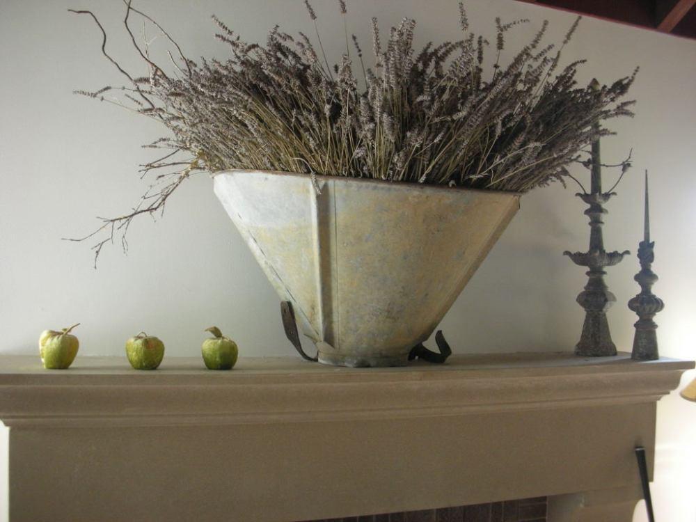 Vintage French grape harvest basket