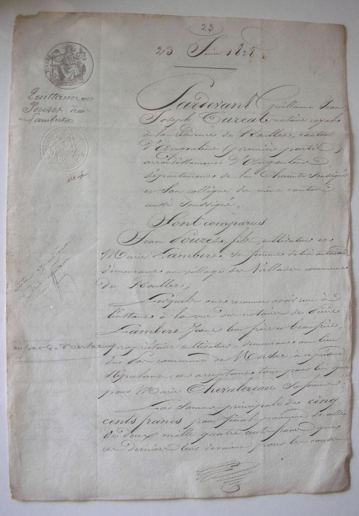 Antique French Script Trouvais
