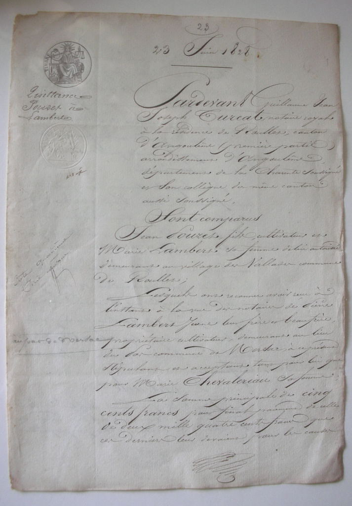 c. 1828 French letter