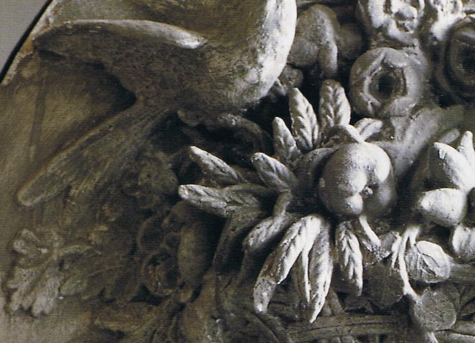 18th c Style plaster moulding from chateau paneling 2