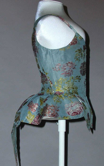 Bodice 18th c European silk wrk 403 MET