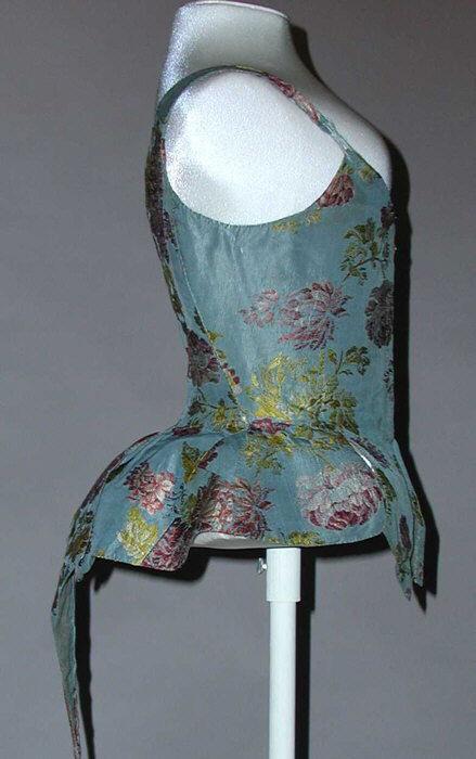 Bodice 18th c European silk wrk 403 MET