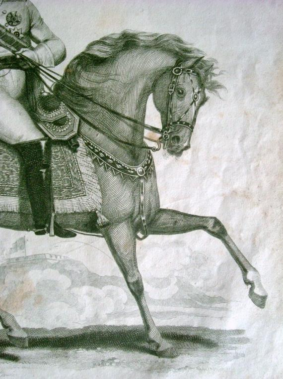 Copperplate engraving from bk Napoleonic Wars, published by Thomas Kelly c 1815
