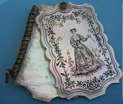 Dance Card Case MOP c 1830