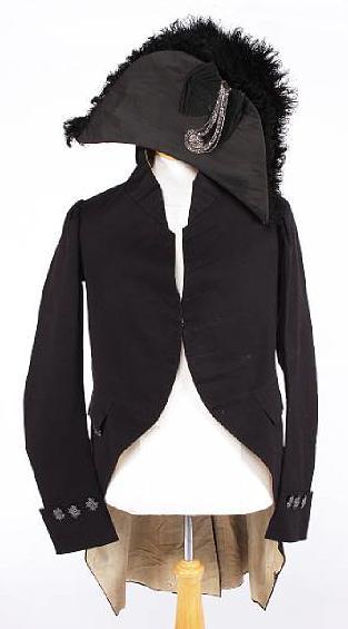 Lte 19th c court frock coat and hat Bonhams July 09
