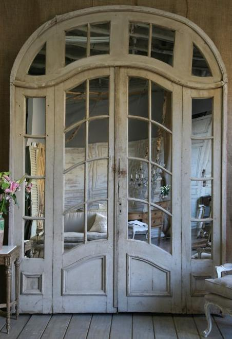 18th century interiors trouvais for Interior double french doors for sale