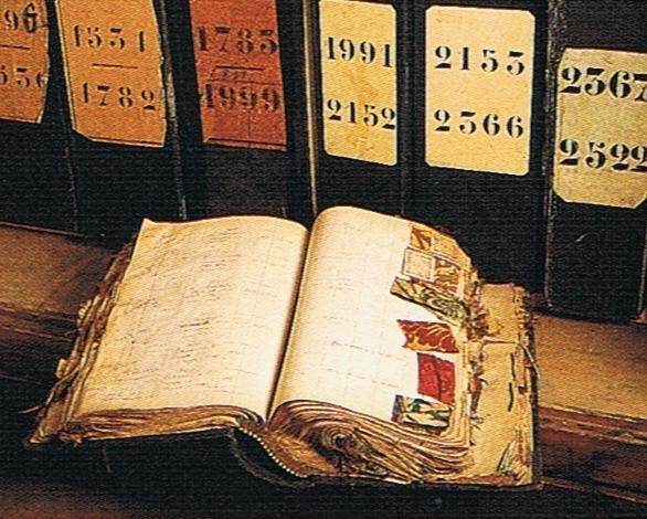 Silk book Georges le Manaxh archichves, Tours, France Trouvais