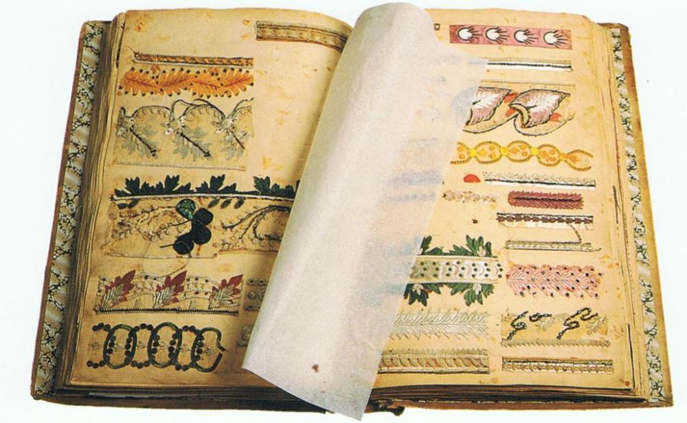 Silk pattern book Prelle archives, Lyon