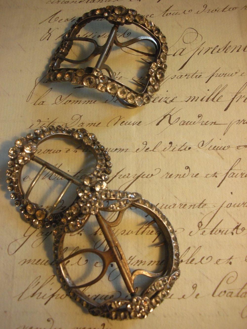 antique paste buckles