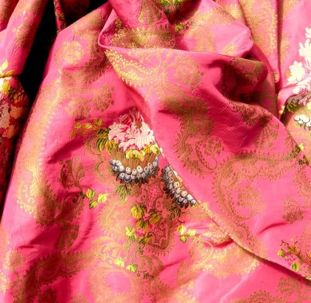 Antique French silk brocade