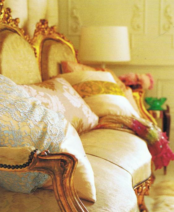 gilded french settee