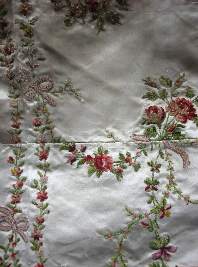 18th century French floral embroidery