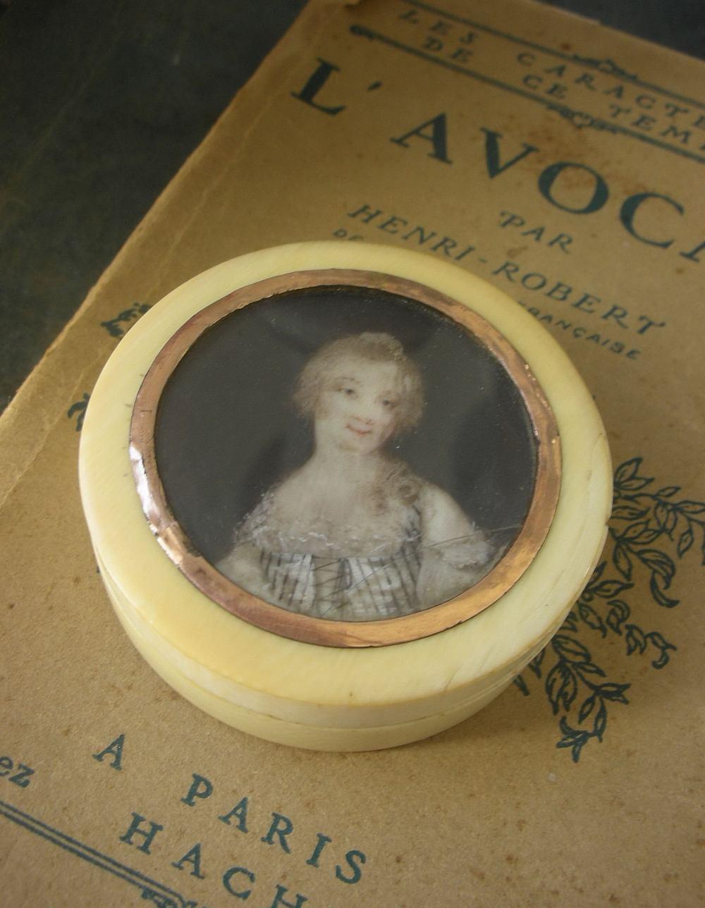 18th century portrait ivory box