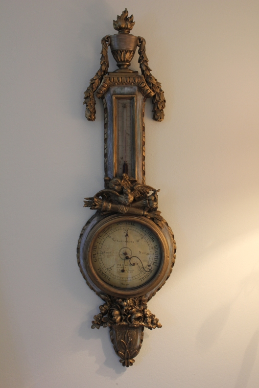 Antique French barometer Trouvais