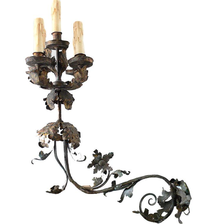 French iron sconces