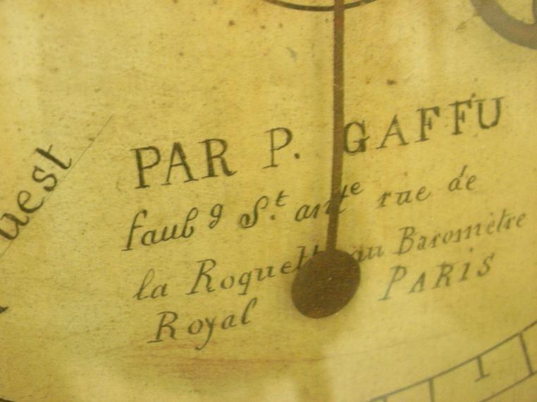 Antique barometer script