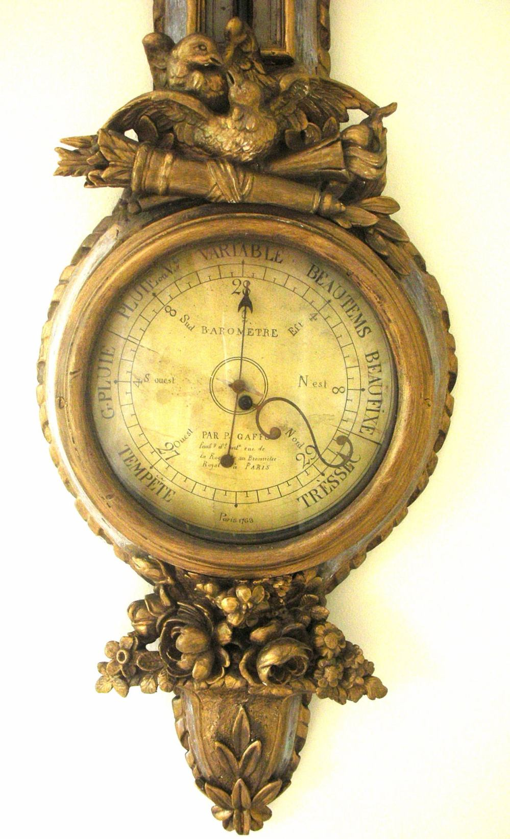French barometer c, 1763
