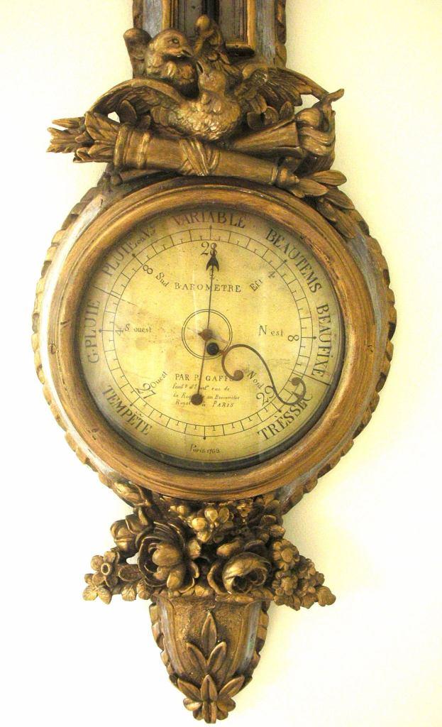 French barometer c, 1763