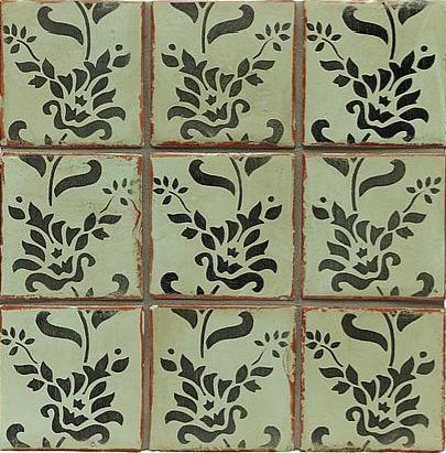 handpainted tiles Trouvais
