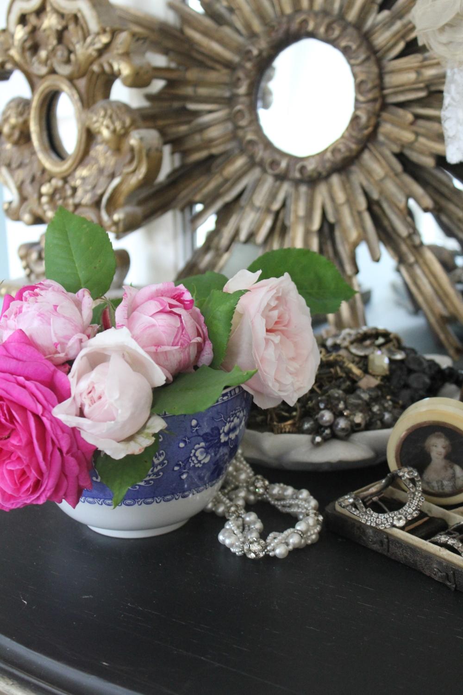 Garden roses inside