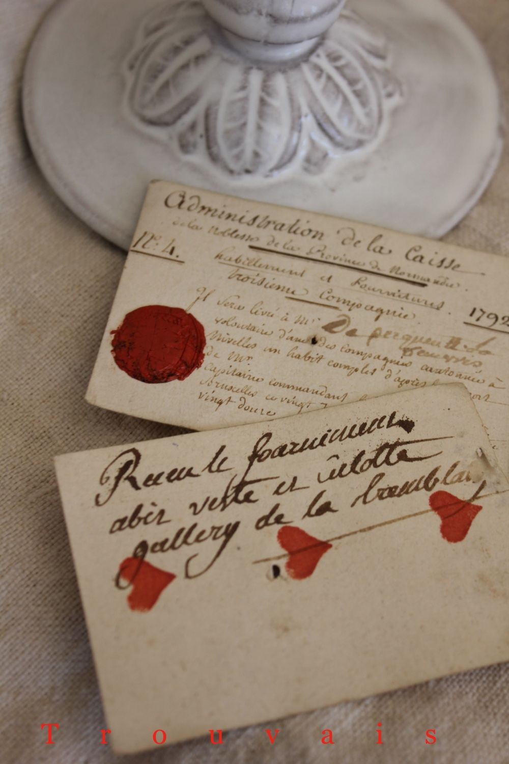 Trouvais 18th c French card