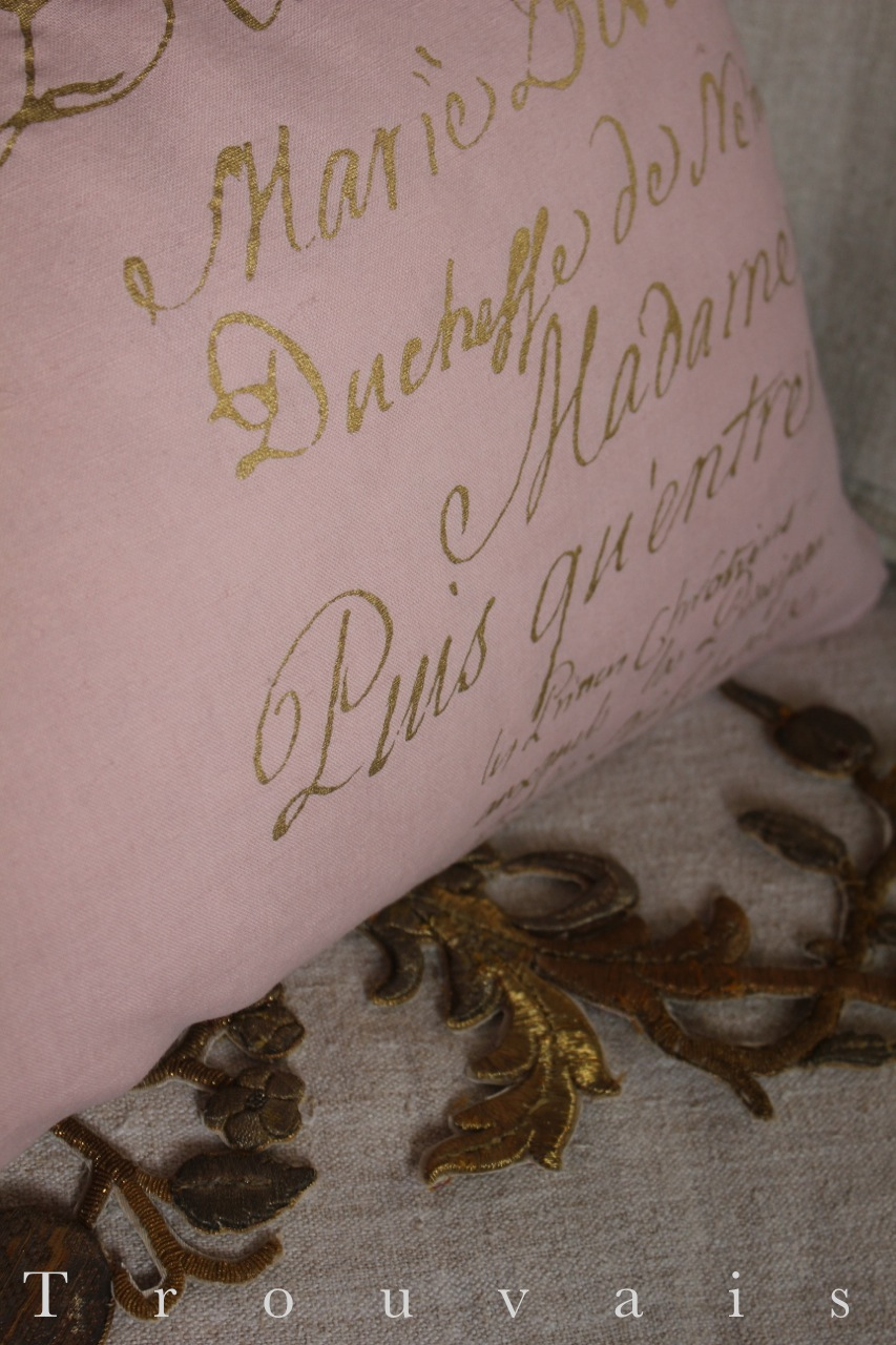 Quartermaine dyed script pillow