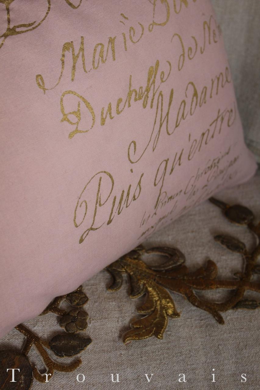 Quartermaine dyed script pillow